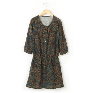 Vestido corto estampado de manga larga 10-16 años R teens