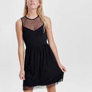 Plain Sleeveless Knee-Length Skater Dress ONLY