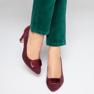 Туфли кожаные с декоративным украшением La Redoute Collections