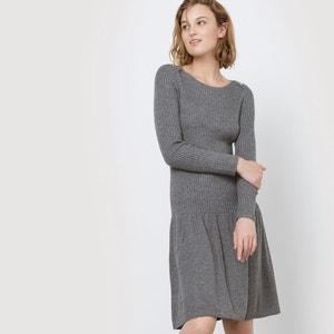Vestido em tricot, saia com pregas MADEMOISELLE R