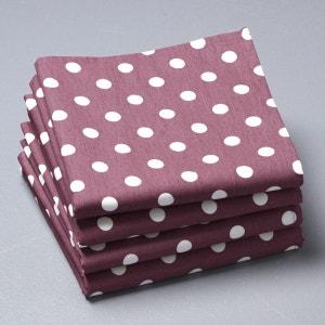 Serviettes de table à pois, pur coton, (lot de 4), La Redoute Interieurs