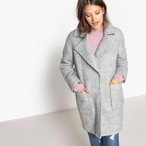 Пальто шерстяное из букле La Redoute Collections