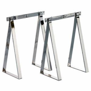 Set of 2 Tréma Chrome-Plated Steel Trestles AM.PM.
