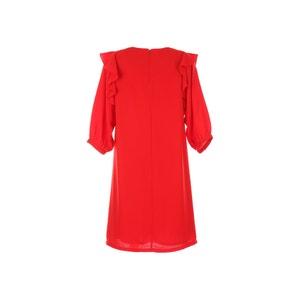 Robe courte volants, manches 3/4 RENE DERHY