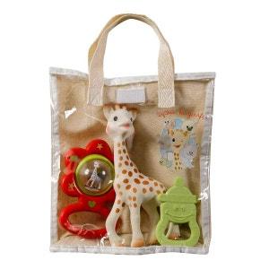 Sac cadeau Sophie la Girafe avec hochet et anneau de dentition VULLI