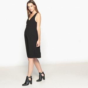 Vestido de embarazo escote de pico delante y detrás La Redoute Collections