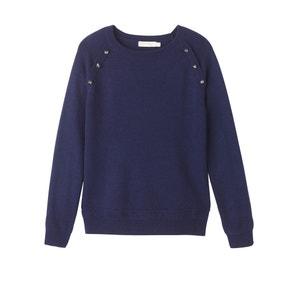 Pullover mit rundem Ausschnitt, Feinstrick SEE U SOON