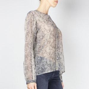Bedrukte blouse met ronde hals en lange mouwen LE TEMPS DES CERISES