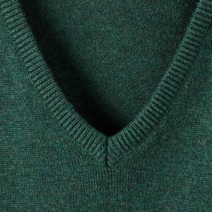 Cotton V-Neck Jumper CASTALUNA FOR MEN