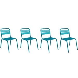 Chaise de jardin ITHAQUE LOT DE 4 CHAISES MILIBOO