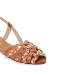 Sandales plates cuir détail tresses MADEMOISELLE R