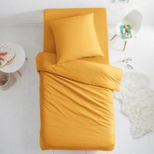 Housse de couette gris et jaune la redoute - La redoute housse de couette bicolore ...