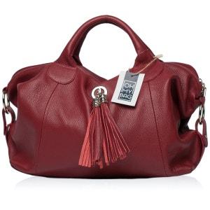 Sac à Main CUIR grainé femme - Sac à main porté main et bandoulière - Modèle Chambord OH MY BAG