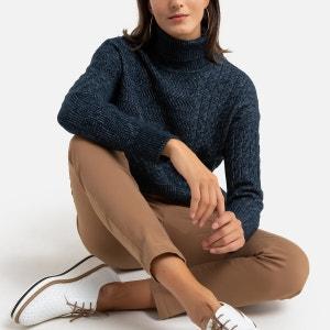 Cable Knit Turtleneck Jumper