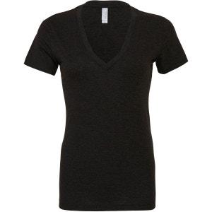 T-shirt manches courtes col v chiné BELLA & CANVAS