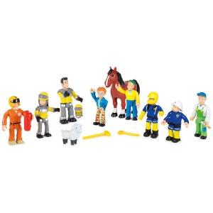 Sam le Pompier - Coffret 10 Figurines - SMO109251023002 SMOBY