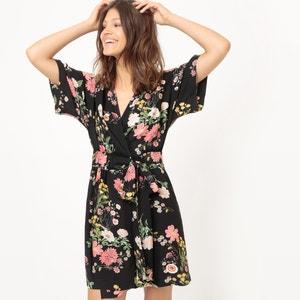 Floral Print Kimono-Style Dress MADEMOISELLE R