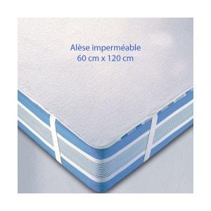Lot de 3 Alèses imperméables 60 x 120 pour lit bébé PETITE CHAMBRE