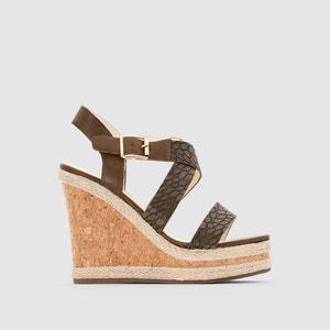 314561 LXY 5148 Open Toe Wedge Heel Sandals BUFFALO
