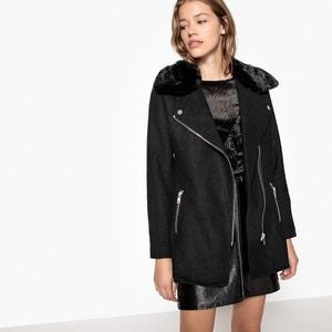 Manteau avec col en fourrure synthétique La Redoute Collections