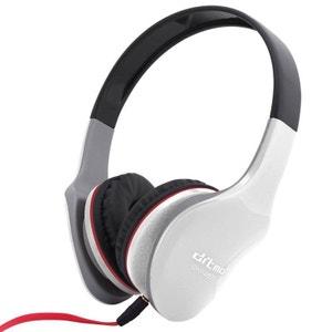 Casque stereo anti bruit casque arceau isolation phonique sonore blanc Yonis
