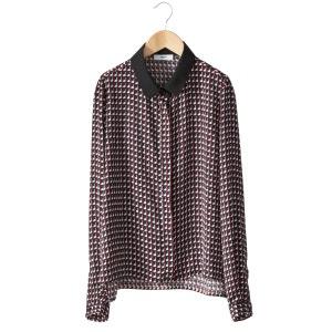 Blusa estampada de manga larga SUNCOO