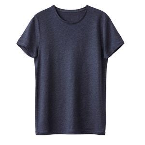 T-shirt de gola redonda, puro linho R essentiel