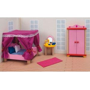 Maison de Poupées : Mobilier pour Château rose Goki : Chambre à coucher GOKI