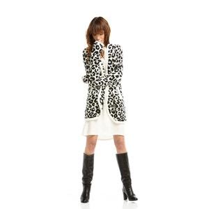 Leopard Print Open Cardigan CHARLISE