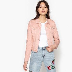 Veste en jean droite avec volants au dos ONLY