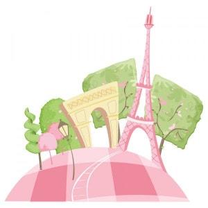 Sticker Europe : Paris en Rose DECOLOOPIO