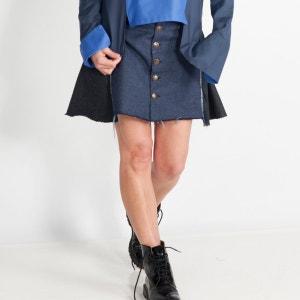 Jupe courte trapèze en jeans WYLDE