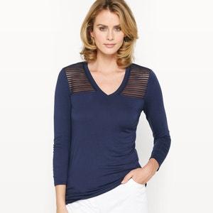 T-shirt résille, maille souple ANNE WEYBURN