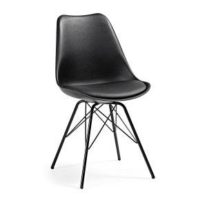 Chaise Ralf avec pieds en acier, noir KAVEHOME