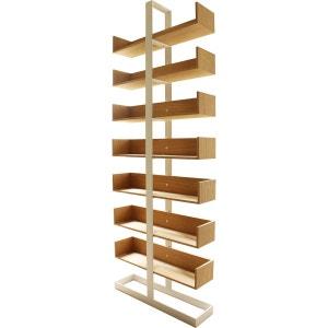 Bibliothèque acier blanc et chêne Séverin 1 ALEX DE ROUVRAY DESIGN