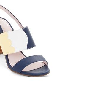 Sandales talon haut imprimé tricolore MADEMOISELLE R