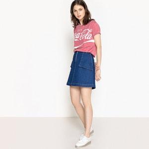 T-shirt con scollo rotondo fantasia, maniche corte COCA COLA