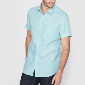 Chemise manches courtes coupe droite 100% lin R essentiel