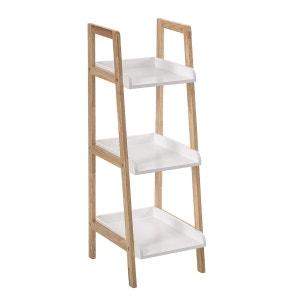 Etagère salle de bain Biseauté - 3 niveaux - Blanc ATMOSPHERA