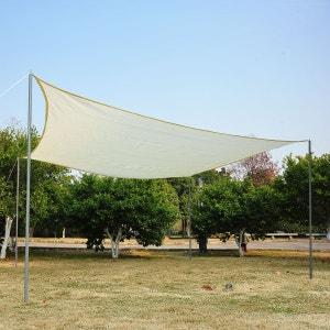 Voile d'ombrage rectangulaire 3 x 4 m polyéthylène haute densité résistant aux UV coloris crème - OUTSUNNY OUTSUNNY