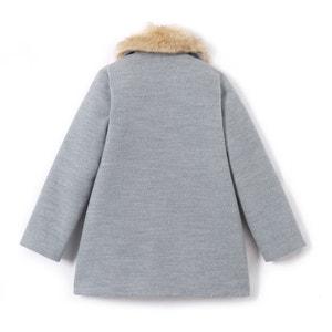 Cappotto con collo in pelliccia sintetica da 3  a 12 anni La Redoute Collections