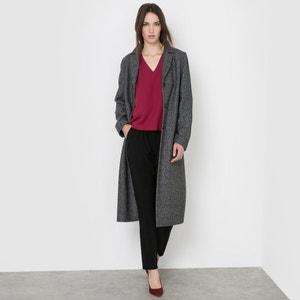 Пальто длинное с узором