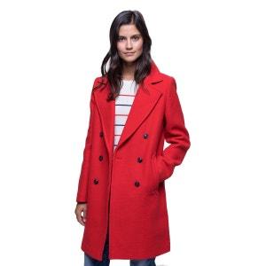 Manteau mi-long en laine majoritaire TRENCH AND COAT