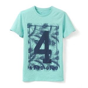 T-shirt col rond imprimé pur coton R essentiel