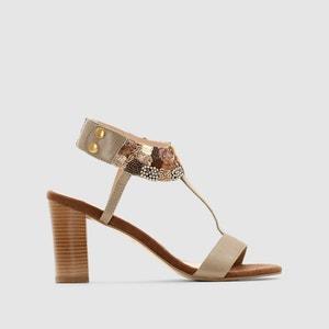 Sandálias em pele com adornos ANNE WEYBURN