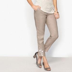 Pantalon droit 7/8ème, pur lin ANNE WEYBURN