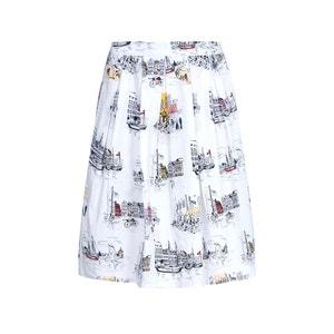 Knee-Length Printed Skirt YUMI