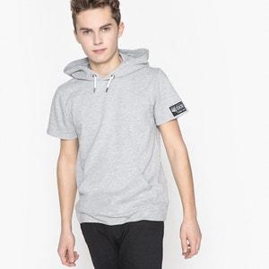 T-shirt manches courtes à capuche 10-16 ans La Redoute Collections