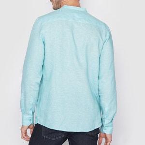 Camisa de mangas compridas, corte direito, 100% linho R essentiel