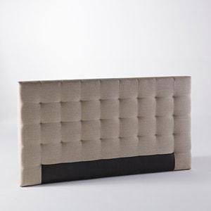 Cabecero de cama de capitoné Selve, Al. 100 cm